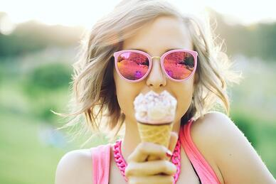 Woman with Ice Cream_Med